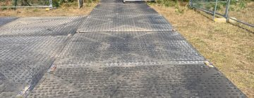 Over 2000 m2 of TuffTrak temporary roadways